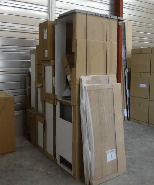 mise à disposition des marchandises pour un enlèvement dans notre dépôt