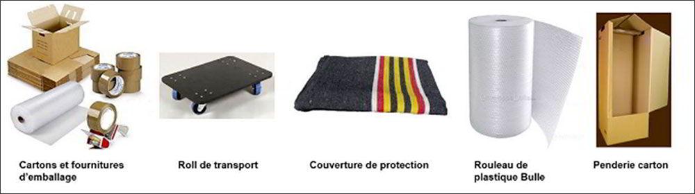Vente de fourniture de déménagement : Couverture de protection :